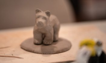 Bear project, before firing in the kiln